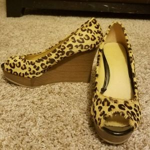 Express Cheetah Print Wedges